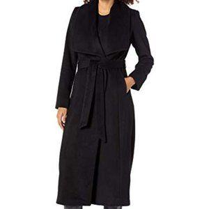 Cole Haan Slick Wool Blend Wrap Coat NWT